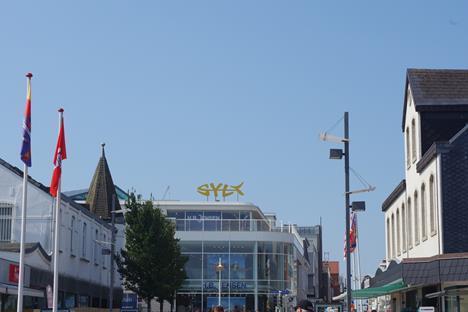 Westerland Friedrichstrasse Richtung Strand